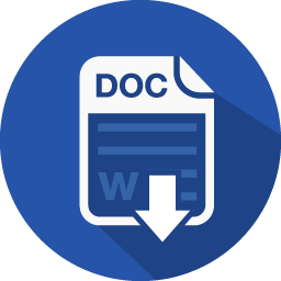 Word document download icon